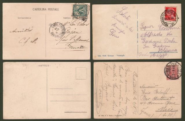 VENTIMIGLIA, Imperia. 4 cartoline (3 viaggiate tra il 1905 e il 1934).