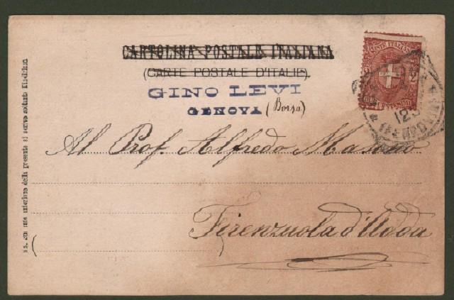 BAGNI DI SAN GIULIANO, Genova. Cartolina fotografica viaggiata nel 1900.