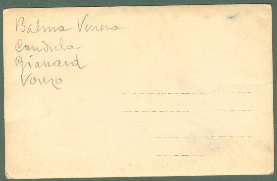 BALME, Aosta. Veduta generale. Cartolina fotografica d'epoca, non viaggiata, circa 1910