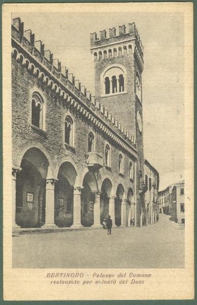 Emilia Romagna. BERTINORO, Forlì. Palazzo del Comune. Cartolina d'epoca non viaggiata, circa 1941