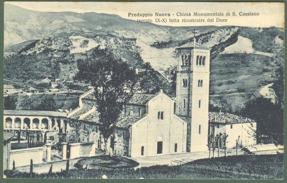 Emilia Romagna. PREDAPPIO, Forlì, Chiesa di S. Cassiano. Cartolina d'epoca viaggiata nel 1937.
