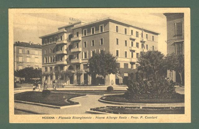 Emilia Romagna. MODENA. piazzale Risorgimento. Cartolina d'epoca viaggiata nel 1943.