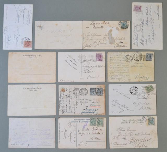 Friuli Venezia - Giulia. CARTOLINE D'EPOCA. TRIESTE. Insieme di dodici cartoline di cui 10 viaggiate tra il 1915 - 1928. Una ਠdoppia.