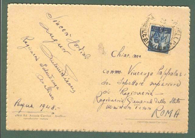 Campania. AVELLINO. Palazzo del Governo. Cartolina d'epoca viaggiata nel 1948.