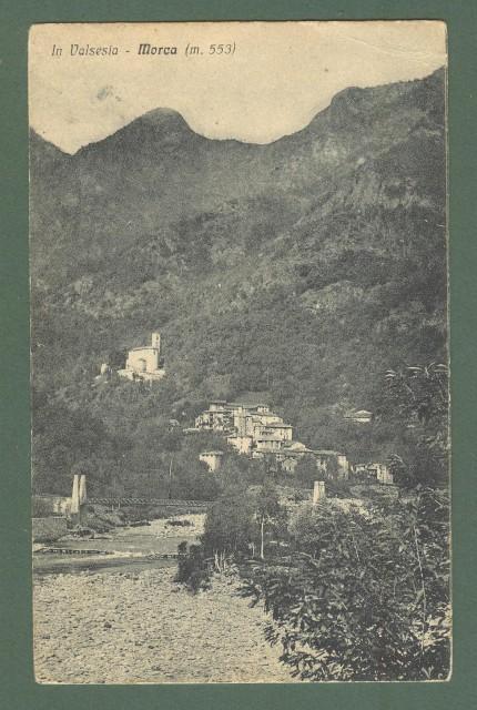 Piemonte. MORCA, Vercelli. Cartolina d'epoca viaggiata nel 1933.