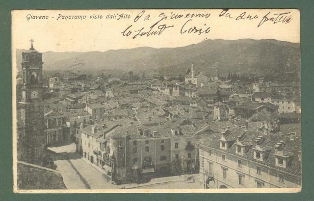 Piemonte. GIAVENO, Torino. Panorama. Cartolina d'epoca viaggiata nel 1903.