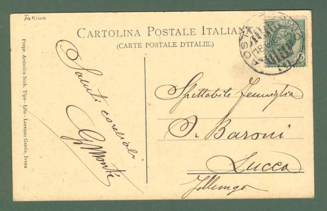 Piemonte. IVREA, Torino. Bagni Umberto I'°. Cartolina d'epoca viaggiata nel 1913.