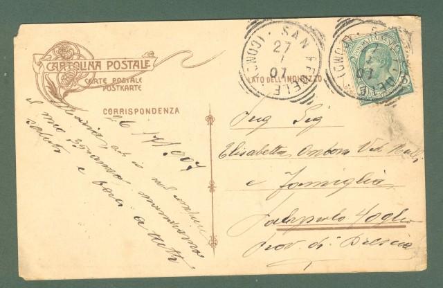 Lombardia. PELLIO INFERIORE. INTELVI, Como. Cartolina d'epoca viaggiata nel 1907
