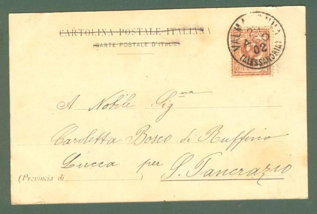 Piemonte. VALMADONNA, Alessandria. Cartolina d'epoca viaggiata nel 1902.