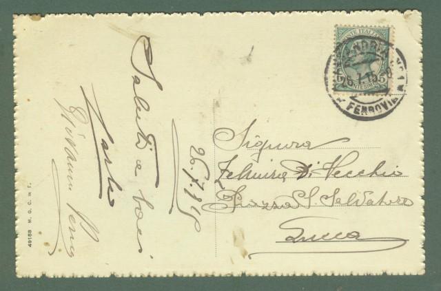 Piemonte. ALESSANDRIA. Piazza Vittorio Emanuele. Cartolina d'epoca viaggiata nel 1915