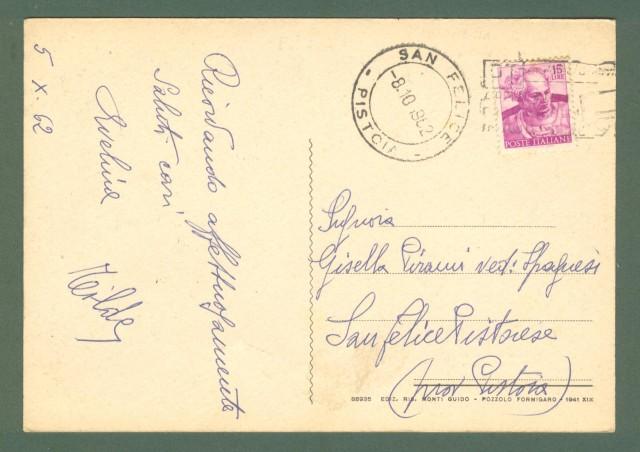 Piemonte. POZZOLO FORMIGARO, Alessandria. Saluti da. Cartolina d'epoca viaggiata nel 1962 (ma precedente).