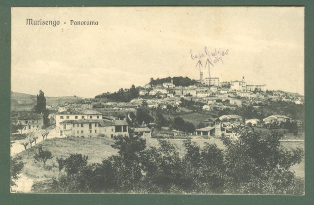 Piemonte. MURISENGO, Alessandria. Cartolina d'epoca viaggiata nel 1917