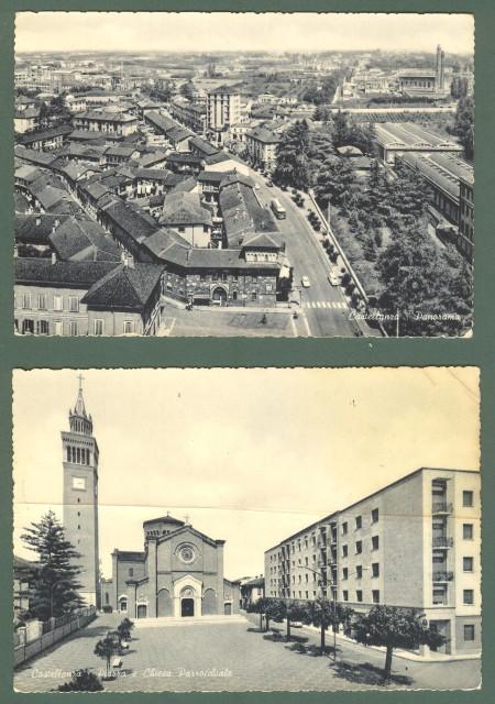 Lombardia. CASTELLANZA, Varese. Due cartoline d'epoca viaggiate nel 1964 e 1966