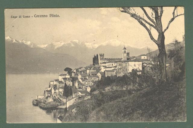 Lombardia. CORENNO PLINIO, Como. Cartolina d'epoca viaggiata nel 1922.