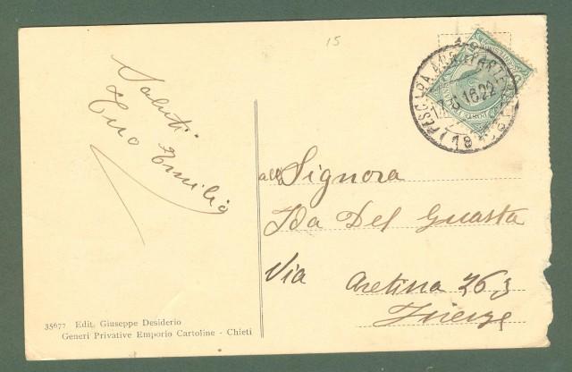 Abruzzo. CHIETI. Corso marrucino. Cartolina d'epoca viaggiata nel 1916.