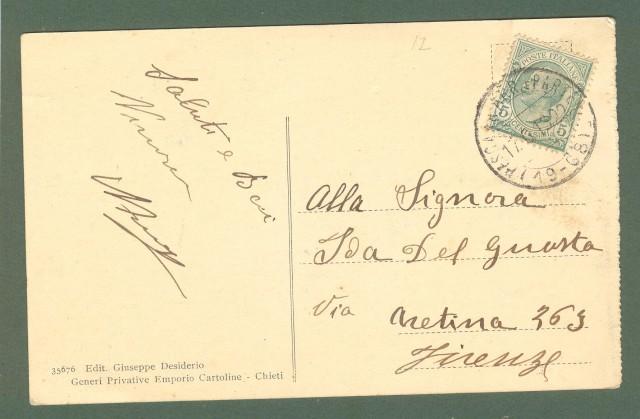 Abruzzo. CHIETI. Bagni Pubblici. Cartolina d'epoca viaggiata nel 1913.