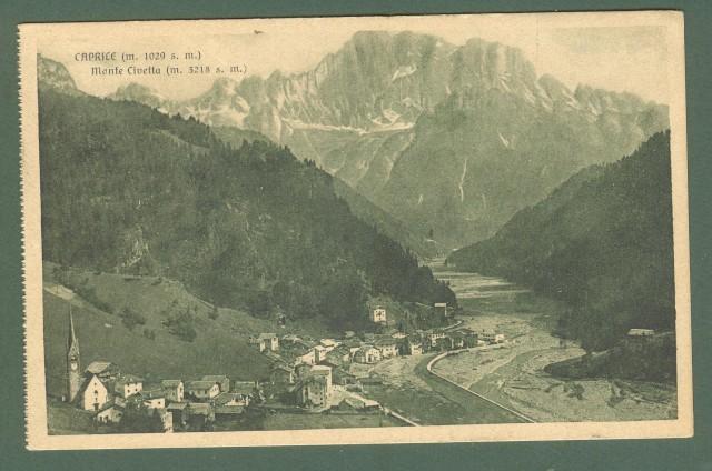 Veneto. CAPRICE - Monte Civetta. Cartolina d'epoca viaggiata nel 1917.