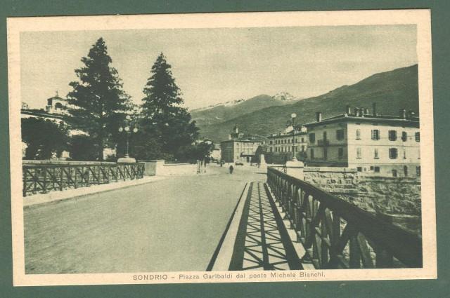 Lombardia. SONDRIO. Ponte Michela Bianchi. Cartolina d'epoca viaggiata nel 1937.