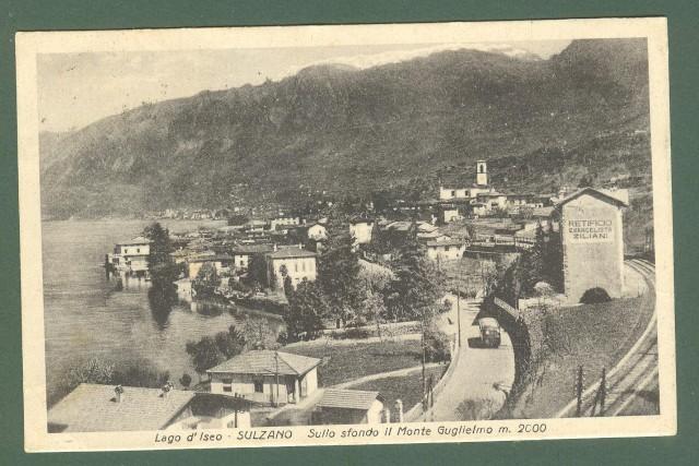 Lombardia. SULZANO, Lago Iseo, Brescia. Cartolina d'epoca viaggiata nel 1949
