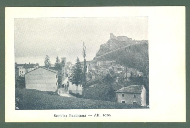 Emilia Romagna. SESTOLA, Modena. Panorama. Cartolina d'epoca viaggiata, primi 1900.