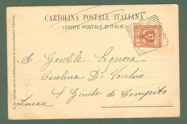Veneto. PADOVA. Palazzina Fiaschi. Cartolina d'epoca viaggiata nel 1902.