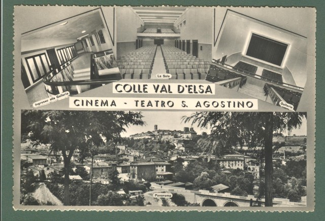 Toscana. COLLE VAL D'ELSA, Siena. Teatro S. Agostino. Cartolina d'epoca non viaggiata, circa 1960.