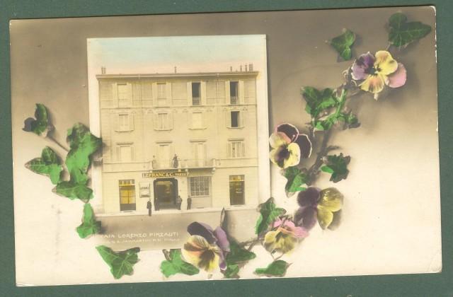 Lombardia. MILANO. Casa Pinzaliti, via Sammartini. Cartolina d'epoca non viaggiata, circa 1920