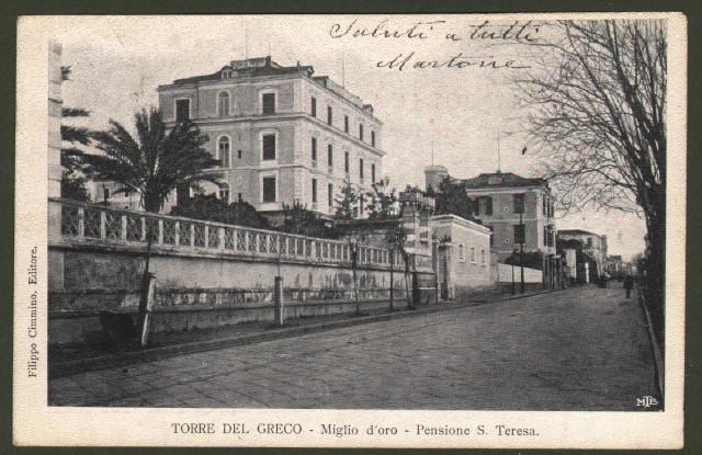 Campania. TORRE DEL GRECO, Napoli. Miglio d'oro. Pensione S. Teresa.