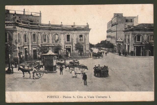 Campania. PORTICI, Napoli. Piazza S. Ciro e Viale Umberto I.