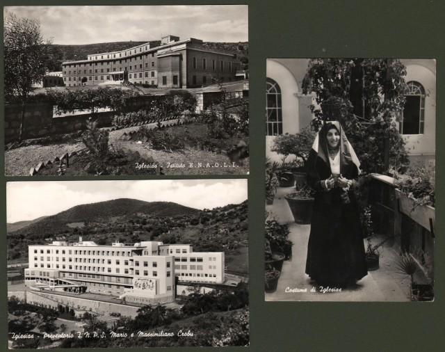 Sardegna. IGLESIAS. 3 cartoline lucide (formato grande) viaggiate tra il 1964 e il 1967.