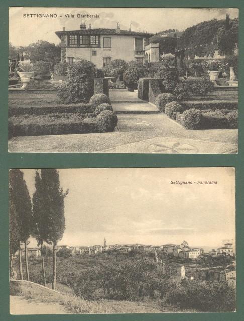 Toscana. SETTIGNANO, Firenze. Due cartoline d'epoca (1 viaggiata nel 1930).