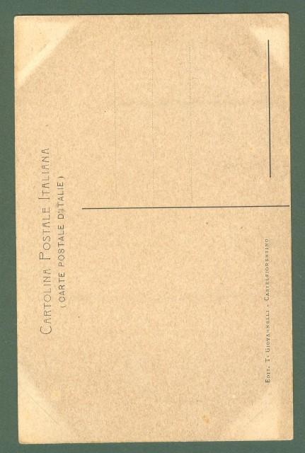 Toscana. MONTAIONE, Firenze. Cascata dell'Evola. Cartolina d'epoca non viaggiata, primi 1900.