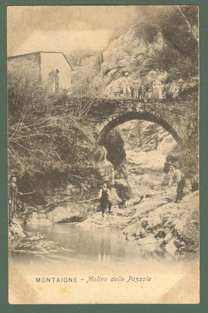 Toscana. MONTAIONE, Firenze. Molino delle Pozzole. Cartolina d'epoca non viaggiata, primi 1900.