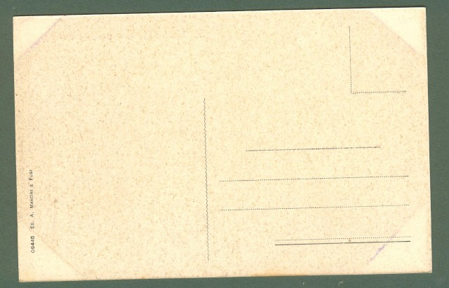 Toscana. RADDA IN CHIANTI, Siena. Giardino pubblico. Cartolina d'epoca non viaggiata, circa 1925.