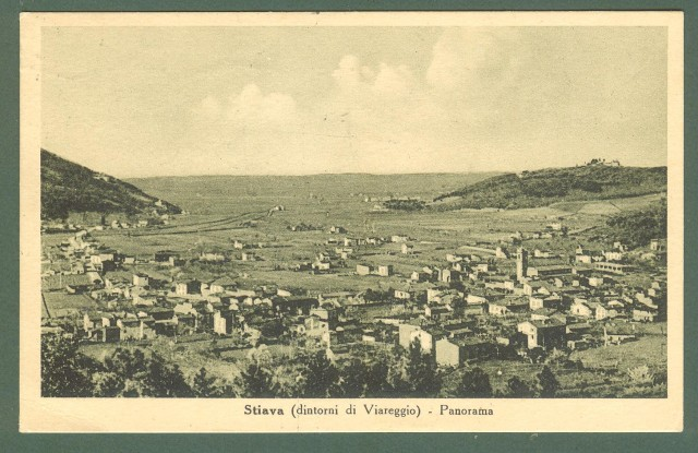 Toscana. STIAVA, Lucca. Panorama. Cartolina d'epoca viaggiata nel 1952.