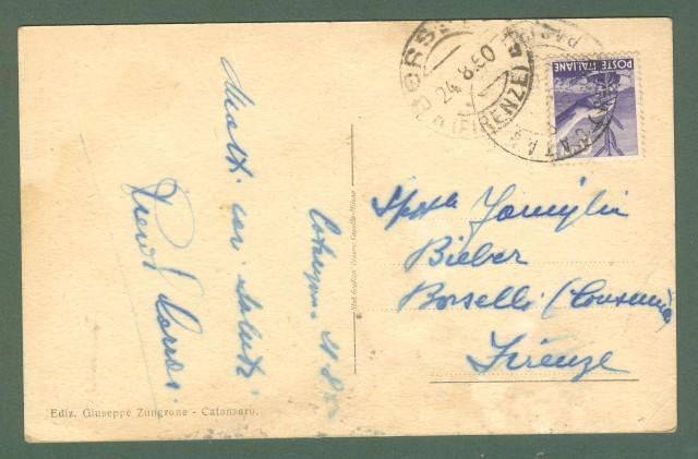 Calabria. CATANZARO. Funicolare. Cartolina d'epoca viaggiata nel 1950.