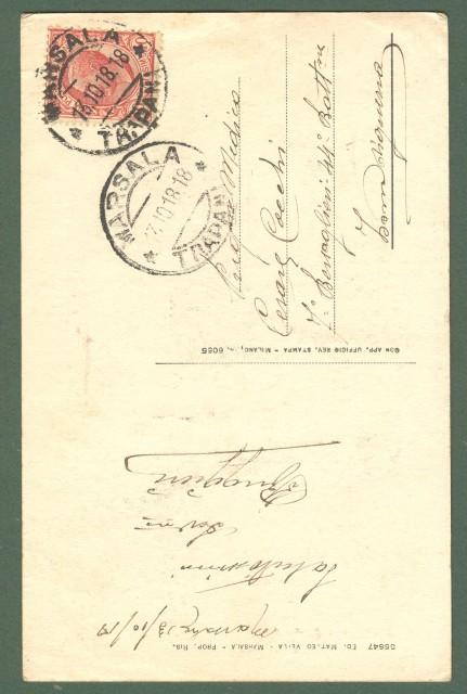 Sicilia. MARSALA, Trapani. Porta Garibaldi. Cartolina d'epoca viaggiata nel 1918.