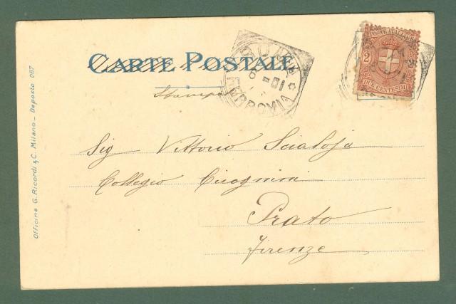 Illustratori. METLICOVITZ LEOPOLDO. Tosca, Puccini. Cartolina d'epoca viaggiata nel 1901.