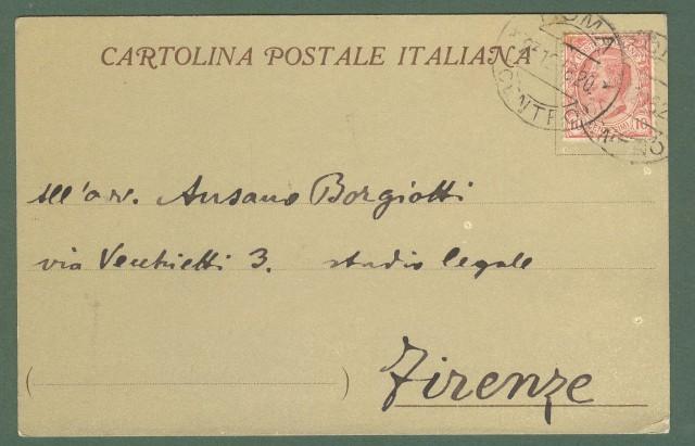 CIRCOLO UFFICIALI DI TERRA E DI MARE. Roma 1918. Cartolina d'epoca viaggiata.