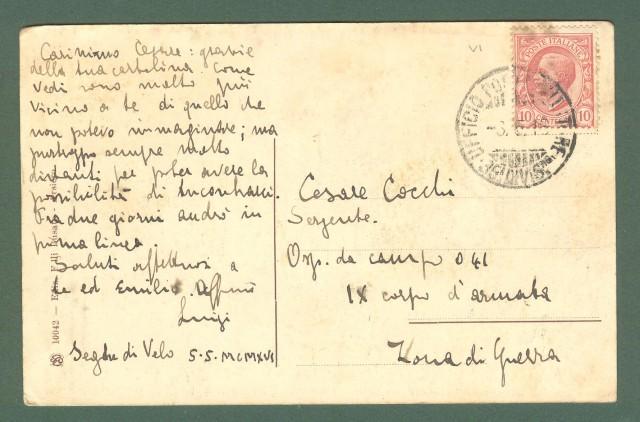 Veneto. VELO D'ASTICO, Vicenza. La Montanina. Cartolina d'epoca viaggiata nel 1918.