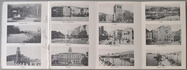 Venezia Giulia. TRIESTE. Cartolina d'epoca quadrupla, viaggiata in busta, circa 1930.
