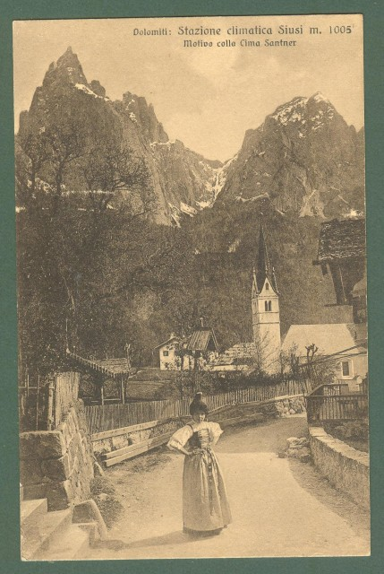 Trentino. SIUSI, Bolzano. Cartolina d'epoca non viaggiata, circa 1920.