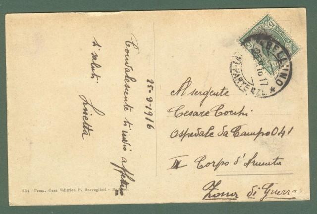 Veneto. CAVERZANO, Belluno. Cartolina d'epoca viaggiata nel 1916.