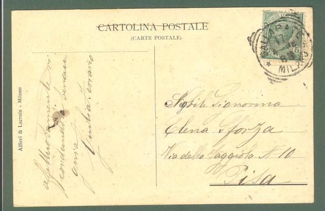 Lombardia. NIGUARDA, Milano. Scuola pratica agricola femminile. Cartolina d'epoca viaggiata nel 1910.