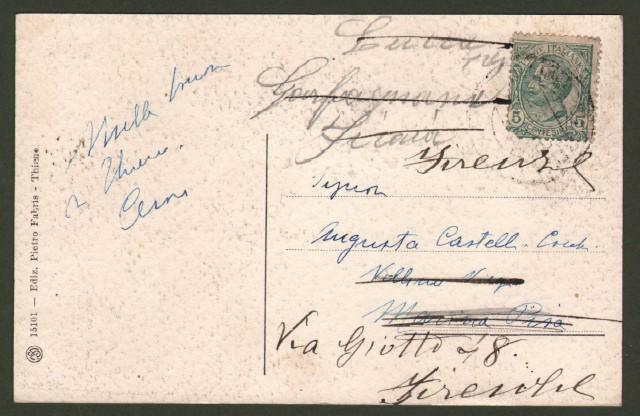 Veneto. THIENE. Castello Colleoni. Cartolina d'epoca viaggiata nel 1918.