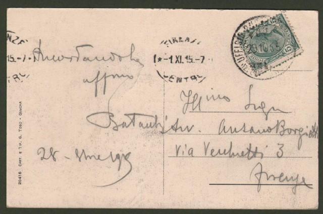 Friuli. GEMONA, Udine. Panorama. Cartolina d'epoca viaggiata nel 1915