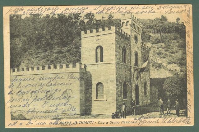 Toscana. GREVE IN CHIANTI, Firenze. Tiro a Segno. Cartolina d'epoca viaggiata nel 1930.
