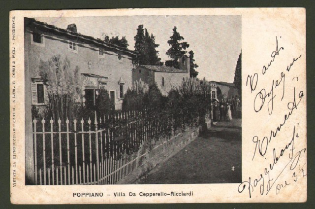 Toscana. POPPIANO, Montespertoli, Firenze. Villa De Cepperello-Ricciardi.