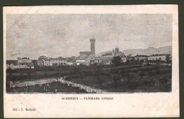 Toscana. SCARPERIA, Firenze. Panorama da levante.