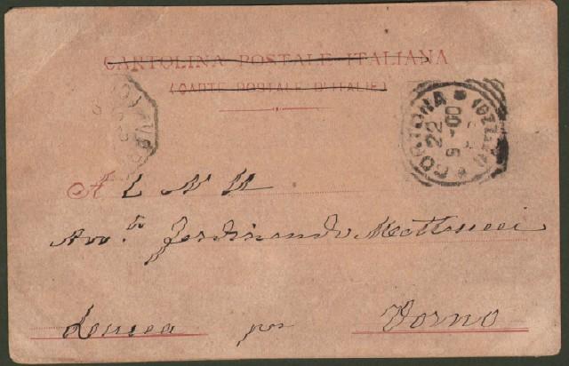 Toscana. CORTONA, Arezzo. Panorama. Cartolina d'epoca viaggiata nel 1900.
